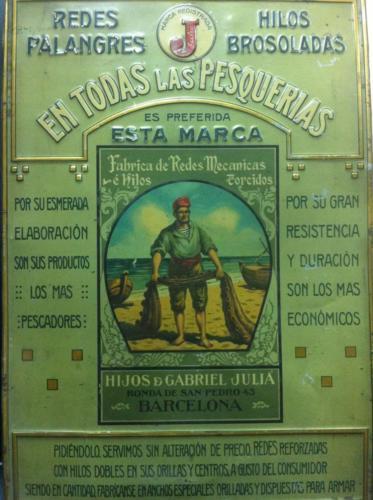 Cartel publicitario chapa / Advertising poster