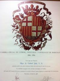 Diploma Centenario Cámara de Comercio / Chamber of Commerce Centennial Diploma